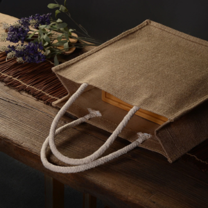 LINEN CANVAS SHOPPING BAG