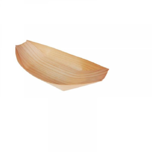 DISPOSABLE WOODEN FOOD BOATS