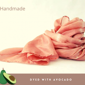 AVOCADO ECO-DYED SILK SCARF